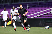 Orlando, Florida - Monday January 15, 2018: Ricky Lopez-Espin and Mamadou Guirassy. Match Day 2 of the 2018 adidas MLS Player Combine was held Orlando City Stadium.