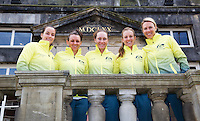 April 17, 2015, Netherlands, Den Bosch, Maaspoort, Fedcup Netherlands-Australia,  Australian team<br /> Photo: Tennisimages/Henk Koster