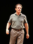"Peter Scolari.during the Broadway Opening Night Performance Curtain Call for ""Magic / Bird"" at the Longacre Theatre in New York City on April 11, 2012"