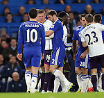 Tempers flare between Chelsea's Branislav Ivanovic and Everton's James McCarthy <br /> <br /> Barclays Premier League- Chelsea vs Everton  - Stamford Bridge - England - 11th February 2015 - Picture David Klein/Sportimage