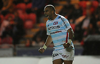 Racing 92 Simon Zebo celebrates the penalty try in the dying moments of the game<br /> <br /> Photographer Ian Cook/CameraSport<br /> <br /> European Rugby Champions Cup - Scarlets v Racing 92 - Saturday 13th October 2018 - Parc y Scarlets - Llanelli<br /> <br /> World Copyright &copy; 2018 CameraSport. All rights reserved. 43 Linden Ave. Countesthorpe. Leicester. England. LE8 5PG - Tel: +44 (0) 116 277 4147 - admin@camerasport.com - www.camerasport.com