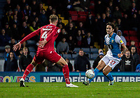 Blackburn Rovers' Lewis Travis competing with Nottingham Forest's Joe Worrall (left) <br /> <br /> Photographer Andrew Kearns/CameraSport<br /> <br /> The EFL Sky Bet Championship - Blackburn Rovers v Nottingham Forest - Tuesday 1st October 2019  - Ewood Park - Blackburn<br /> <br /> World Copyright © 2019 CameraSport. All rights reserved. 43 Linden Ave. Countesthorpe. Leicester. England. LE8 5PG - Tel: +44 (0) 116 277 4147 - admin@camerasport.com - www.camerasport.com