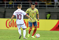 PEREIRA – COLOMBIA, 27-01-2020: Colombia y Venezuela en partido de la fecha 4, grupo A, del CONMEBOL Preolímpico Colombia 2020 jugado en el estadio Hernán Ramírez Villegas de Pereira, Colombia. / Colombia and Venezuela in match between Colombia and Venezuela for the date 4, group A, for the CONMEBOL Pre-Olympic Tournament Colombia 2020 played at Hernan Ramirez Villegas stadium in Pereira, Colombia. Photo: VizzorImage / Christian Álvarez/ Cont