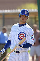 Brett Jackson. Chicago Cubs spring training workouts at Fitch Park, Mesa, AZ - 03/01/2010.Photo by:  Bill Mitchell/Four Seam Images.