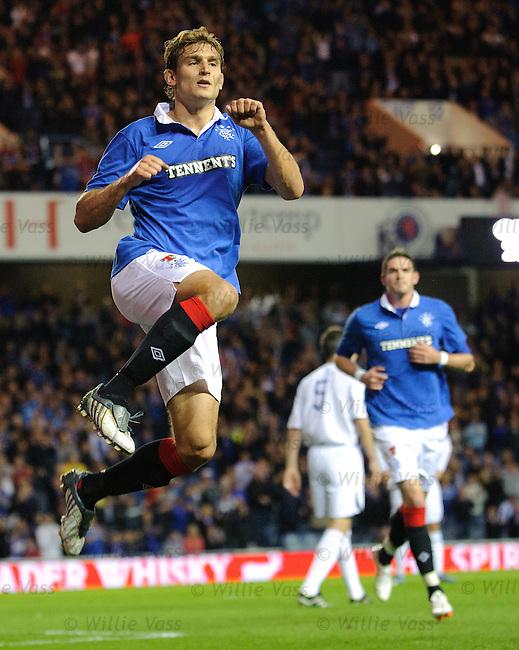 Nikica Jelavic celebrates scoring