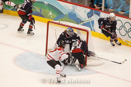Trent Nelson  |  The Salt Lake Tribune.USA vs. Canada, gold medal game, women's Ice Hockey at the Canada Hockey Place, Vancouver, XXI Olympic Winter Games, Thursday, February 25, 2010. Jessie Vetter (goalkeeper)
