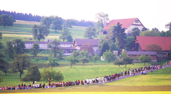 Auffahrtsumritt Celebration, Ascension Thursday, Beromunster, Switzerland