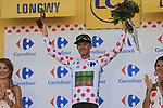 Nathan Brown (USA) Cannondale Drapac takes over the climbers Polka Dot Jersey at the end of Stage 3 of the 104th edition of the Tour de France 2017, running 212.5km from Verviers, Belgium to Longwy, France. 3rd July 2017.<br /> Picture: Eoin Clarke | Cyclefile<br /> <br /> All photos usage must carry mandatory copyright credit (&copy; Cyclefile | Eoin Clarke)