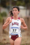 November 1, 2014; Sunnyvale, CA, USA; Loyola Marymount Lions runner Kelli Sugimoto (37) competes during the WCC Cross Country Championships at Baylands Park.