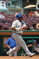 May 14 2009: Frank Martinez of the Stockton Ports during game against the Inland Empire 66'ers at Arrowhead Credit Union Park in San Bernardino,CA.  Photo by Larry Goren/Four Seam Images