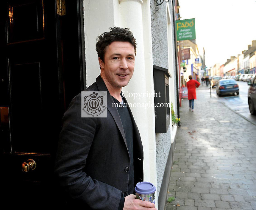 Aidan Gillen, star of LOVE/HATE, The Wire and the latest Batman Movie 'The Dark Knight Rises' where he plays the bad in the opening scene on an aeroplane pictured in Dingle, County Kerry on Friday where he is currently presenting 'Other Voices'..Picture by Don MacMonagle