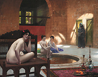 Femmes au bain<br /> *oil on canvas<br /> *74 x 94 cm<br /> *signed b.c.: J.L. GEROME