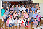 Betty O'Connor, Knockrour West, Scartaglen celebrated her 60th birthday with her sons Gerard, Patrick, James, Timmy, Eddie and Donie, daughters Mary, Breda and Evelyn, their partners and her grandchildren in the Old Killarney Inn, Aghadoe on Saturday