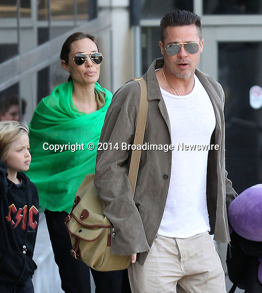 Pictured: Brad Pitt, Angelina Jolie, Shiloh Nouvel Jolie-Pitt, Maddox Chivan Jolie-Pitt, Pax Thien Jolie-Pitt, Knox Leon Jolie-Pitt, Zahara Marley Jolie-Pitt, Vivienne Marcheline Jolie-Pitt<br /> Mandatory Credit &copy; Ben Foster/Broadimage<br /> Brad Pitt, Angelina Jolie and family arriving at the Los Angeles International Airport<br /> <br /> 2/5/14, Los Angeles, California, United States of America<br /> <br /> Broadimage Newswire<br /> Los Angeles 1+  (310) 301-1027<br /> New York      1+  (646) 827-9134<br /> sales@broadimage.com<br /> http://www.broadimage.com<br /> <br /> <br /> Pictured: Brad Pitt, Angelina Jolie, Shiloh Nouvel Jolie-Pitt, Maddox Chivan Jolie-Pitt, Pax Thien Jolie-Pitt, Knox Leon Jolie-Pitt, Zahara Marley Jolie-Pitt, Vivienne Marcheline Jolie-Pitt<br /> Mandatory Credit &copy; Ben Foster/Broadimage<br /> Brad Pitt, Angelina Jolie and family arriving at the Los Angeles International Airport<br /> <br /> 2/5/14, Los Angeles, California, United States of America<br /> Reference: 020514_HDLA_BDG_006<br /> <br /> Broadimage Newswire<br /> Los Angeles 1+  (310) 301-1027<br /> New York      1+  (646) 827-9134<br /> sales@broadimage.com<br /> http://www.broadimage.com
