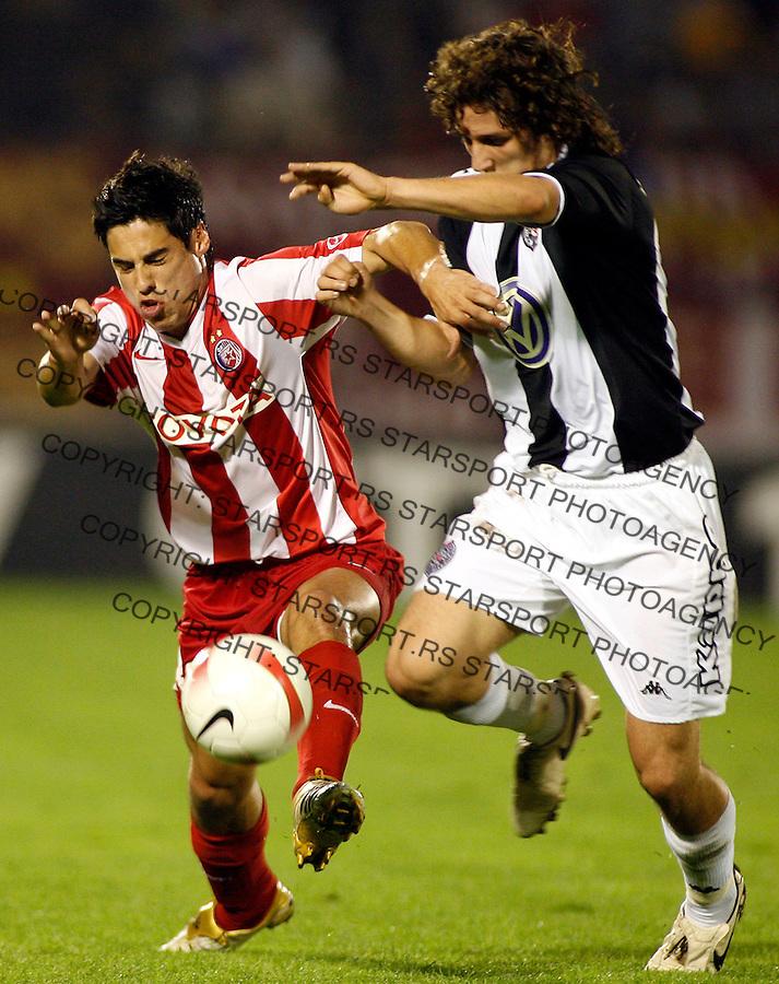 Fudbal, Derbi, Super liga, sezona 2007/08.Partizan Vs. Crvena Zvezda (Red Star).Mauricio Molina, left and Stevan Jovetic.Beograd, 29.09.2007..foto: Srdjan Stevanovic