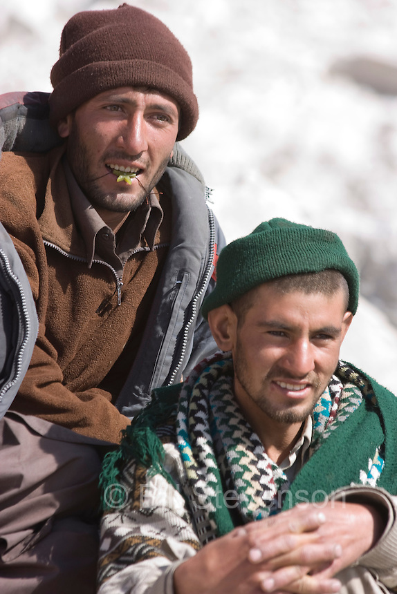 Two young balti men in Pakistan