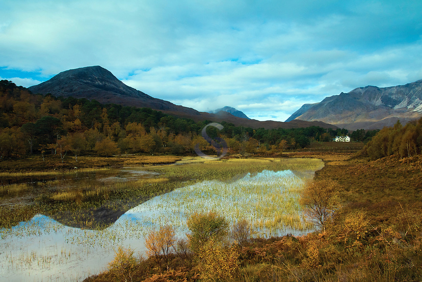 Loch Coulin and the mountains of Torridon, Coulin Forest, Ross & Cromarty, Northwest Highlands