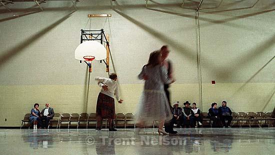Dance in LDS cultural hall at Utah Centennial Celebration<br />