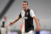 Adrien Rabiot of Juventus looks on during the Serie A football match between Juventus FC and US Lecce at Juventus stadium in Turin  ( Italy ), June 26th, 2020. Play resumes behind closed doors following the outbreak of the coronavirus disease. Photo Andrea Staccioli / Insidefoto