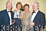Michael and Kathleen Fitzgerald, Killarney, with Patricia and Kevin Griffin, Glenbeigh, at the Kerry Stars Black Tie ball in The Malton on Friday night.
