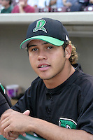 August 30, 2003:  Juan Frias of the Dayton Dragons during a game at Fifth Third Field in Dayton, Ohio.  Photo by:  Mike Janes/Four Seam Images