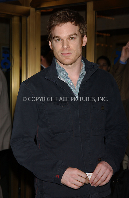 "WWW.ACEPIXS.COM . . . . . ....April 19 2006, New York City....Michael C. Hall....Arrivals at the opening night of ""Three Days of Rain"" staring Julia Roberts at the Bernard B Jacobs Theatre in midtown Manhattan....Please byline: KRISTIN CALLAHAN - ACEPIXS.COM...... . . . . . ..Ace Pictures, Inc:  ..(212) 243-8787 or (646) 679 0430..e-mail: picturedesk@acepixs.com..web: http://www.acepixs.com"