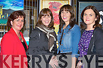 Mary Buckley, Marie O'Keeffe, Cara Fuller and Elma Culloty enjoying the Killarney Lions club Wine and Art exhibition in the Malton Hotel on Thursday night..