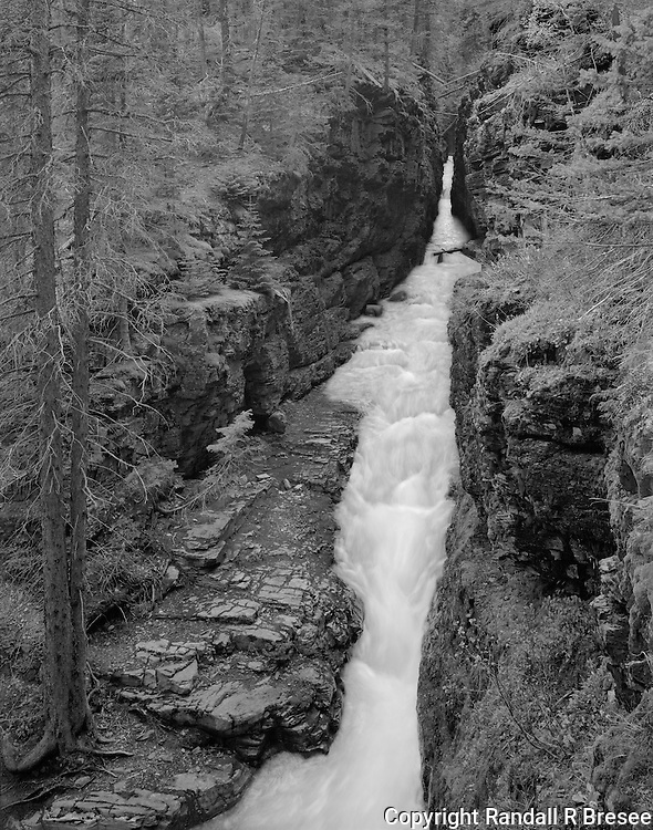 &quot;Sunrift Gorge&quot; Glacier National Park, Montana<br />