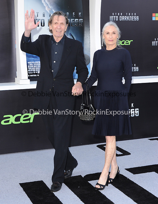 "Leonard Nimoy and Susan Bay at Paramount Pictures' Premiere of  ""Star Trek Into Darkness"" held at The Dolby Theater in Hollywood, California on May 14,2013                                                                   Copyright 2013 Hollywood Press Agency"