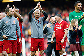 24th March 2018, Anfield, Liverpool, England; LFC Foundation Legends Charity Match 2018, Liverpool Legends versus FC Bayern Legends; Liverpool Legends player-manager Ian Rush applauds the Kop at the end of the game