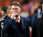 Nederland, Amsterdam, 14 november 2012 .Seizoen 2012-2013.Oefeninterland.Nederland-Duitsland .Louis van Gaal (r.), trainer-coach van Nederland.