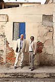 MAURITIUS; street portrait of two business men in Port Louis