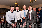 Cathal Ó Sé, Shane Moriarty, Darren Heneghan and Aidan Fitzgerald enjoying the Lios Póil GAA social at the Skellig Hotel in Dingle on Saturday night.