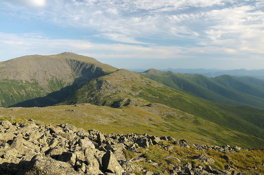 Above tree line on the Presidential Range a rugged road lies ahead...