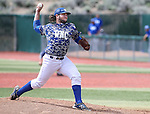 Western Nevada's Ty Fox pitches against College of Southern Nevada at WNC, in Carson City, Nev. on Friday, May 6, 2016. <br />