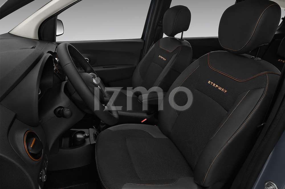 Front seat view of a 2017 Dacia Lodgy Stepway 5 Door Mini Van front seat car photos