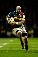 Harlequins' Mathew Luamanu<br /> <br /> Photographer Bob Bradford/CameraSport<br /> <br /> Aviva Premiership Round 20 - Harlequins v Exeter Chiefs - Friday 14th April 2016 - The Stoop - London<br /> <br /> World Copyright &copy; 2017 CameraSport. All rights reserved. 43 Linden Ave. Countesthorpe. Leicester. England. LE8 5PG - Tel: +44 (0) 116 277 4147 - admin@camerasport.com - www.camerasport.com