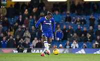 Kurt Zouma of Chelsea scores his 1st penalty during the The Checkatrade Trophy match between Chelsea U23 and Oxford United at Stamford Bridge, London, England on 8 November 2016. Photo by Andy Rowland.