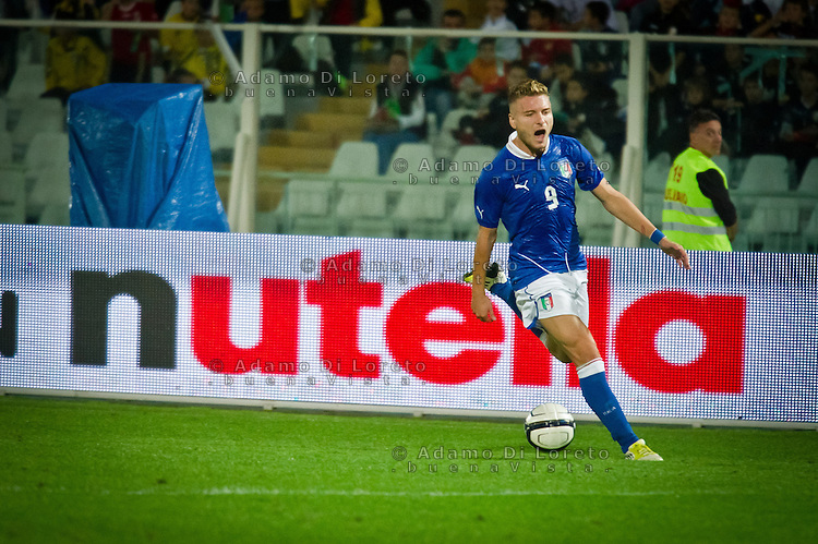 PESCARA (PE) 12/10/2012: QUALIFICAZIONE EUROPEI UNDER 21 ITALIA - SVEZIA. PARTITA VINTA DALL'ITALIA CON UN GOAL DI IMMOBILE. NELLA FOTO IMMOBILE ITALIA  FOTO ADAMO DI LORETO