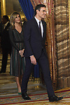 Spanish prime minister Pedro Sanchez (r) and wife Begona Gomez during the United Nations conference for the Climate Summit 2019 (COP25) at the Royal Palace. December 2,2019. (ALTERPHOTOS/Pool/Carlos Alvarez)