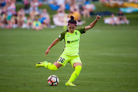 Kansas City, MO - Saturday June 17, 2017: Nahomi Kawasumi during a regular season National Women's Soccer League (NWSL) match between FC Kansas City and the Seattle Reign FC at Children's Mercy Victory Field.