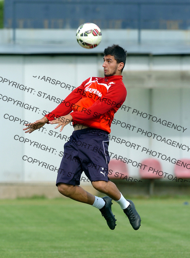 FUDBAL - PRIPREME - CRVENA ZVEZDA - TRENING - Danijel Avramovski fudbaler Crvene Zvezde na treningu.<br /> Brezice, 18.06.2015.<br />                              foto:N.Skenderija