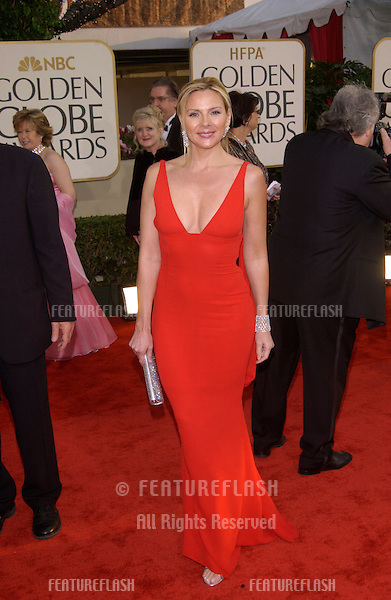 KIM CATTRALL at the Golden Globe Awards at the Beverly Hills Hilton Hotel..19JAN2003..