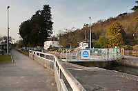 Marsh Lock on the River Thames near Henley in Oxfordshire, Uk