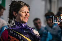 Elena Cecchini (ITA/Canyon - Sram Racing), pre race, <br /> <br /> ©kramon<br /> 12th Women's Omloop Het Nieuwsblad 2020 (BEL)<br /> Women's Elite Race <br /> Gent – Ninove: 123km<br /> <br /> ©kramon