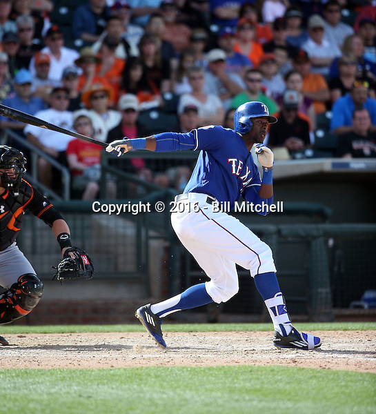 James Jones - Texas Rangers 2016 spring training (Bill Mitchell)