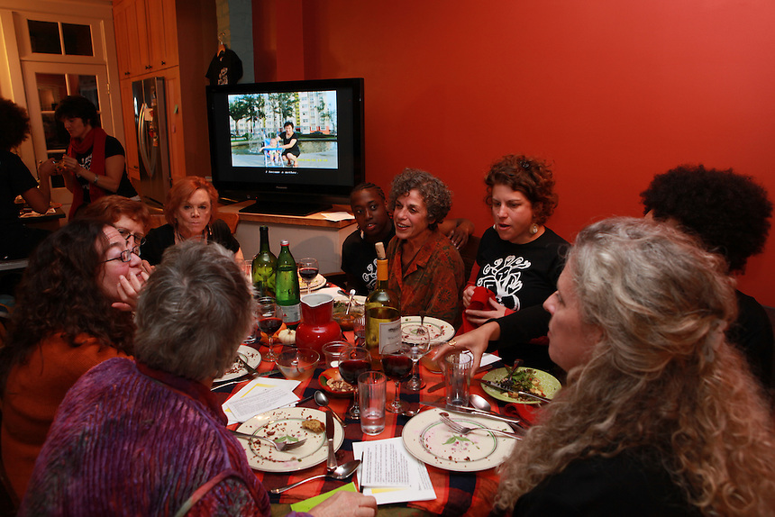 Judy Byron's Closing Party, a fundraiser for Kristen Arant's Young Women's Drumming Empowerment program. Washington DC Oct. 22, 2011  © Rick Reinhard 2011