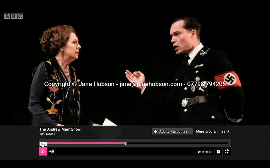 Penelope Wilton, Taken at Midnight, Andrew Marr Show, BBC1, 18.01.15