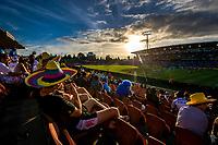 The sun sets on day one of the 2019 HSBC World Sevens Series Hamilton  at FMG Stadium in Hamilton, New Zealand on Saturday, 26 January 2018. Photo: Peter Meecham / lintottphoto.co.nz