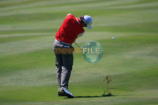 Rory McIlroy (N.IRL) plays his 2nd shot on the 15th hole during the morning session on Day 3 of the Volvo World Match Play Championship in Finca Cortesin, Casares, Spain, 21st May 2011. (Photo Eoin Clarke/Golffile 2011)